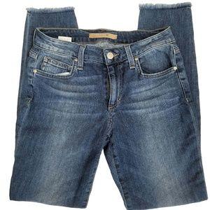 Joe's Skinny Ankle Jeans No Hem EUC Sz 26